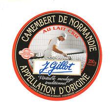 Etiquette de Fromage Ancienne  Camembert  de Normandie  Gillot   No 257