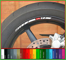 12x Aprilia Wheel Rim Decals Stickers - rsv4 mille tuono rsv 1000 r rs factory