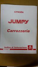 Manuale Originale CITROEN JUMPY CARROZZERIA INDICE DI FATTURAZIONE Tempario 1994
