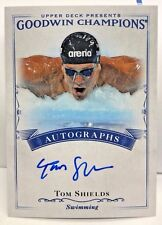 Tom Shields 2016 UD Goodwin Champions on-card Autograph Auto - USA Swimming