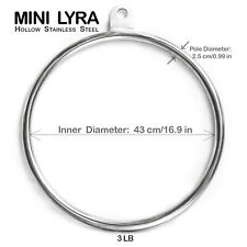 "17"" Mini Lyra/Small Aerial Hoop for Fitness-Workout, Yoga, Aerial - Home Fitness"