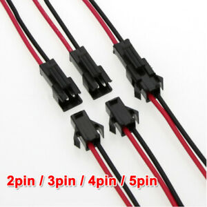 2pin 3pin 4pin 5pin Male And Female 22AWG JST SM Connector Plug led strip light