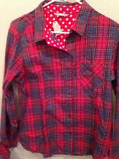 Victoria's Secret Red Blue Scotch Plaid Pajama Set New with Tags Medium