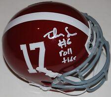 TREY SANDERS signed (ALABAMA CRIMSON TIDE) mini football helmet W/COA C