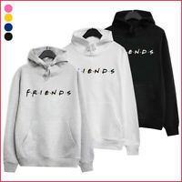 UK Ladies friend Print Hoodie Hoody Sweatshirt Ladies Pullover Sweater UK lskn