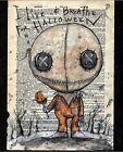 """Sam Trick r Treat"" Halloween dark art lowbrow print signed by Gus Fink"