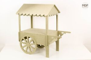 Wooden Sweet Cart Premium Quality Flat Pack Slot Together No Screws/Bolts