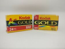 Kodak Gold 100 35 mm Photography Film Color Print 2 Rolls 24 + 12 Exp