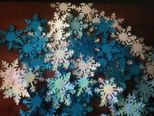50 FROZEN white blue card Extra LARGE party snowflakes confetti table decoration