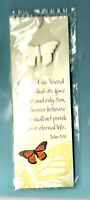 Christian Gift Bookmark Butterfly Pin Jesus God Bible Verse Quote Eternal Life