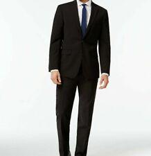 $864 Calvin Klein Men Extreme Slim X Fit Wool Suit Black 2 Piece Jacket Pant 44R