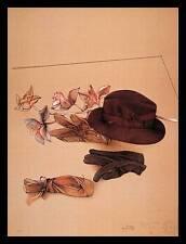 Bruno Bruni Stilleben mit Hut Poster Bild Kunstdruck & Alurahmen schwarz 80x60cm