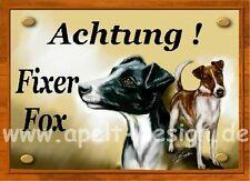 Kurzhaar Foxterrier / Türschild / Warnschild