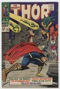 Mighty Thor 143 Marvel 1967 VG Stan Lee Jack Kirby Sif Balder Enchanters