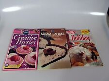 3 Pillsbury Betty Crocker Cookbook Booklets Summertime Recipe Book Party Holiday