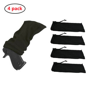 4pcs 14inch Tactical Shooting Silicone Treated HandGun Pistol Sock Holster Cover