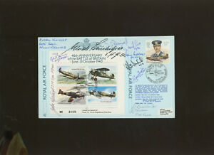 1986 RAF Battle of Britain FDC signed by 10 Battle of Britain participants