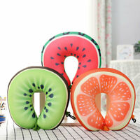 Microbead U Shaped Travel Fruit Neck Pillow for Sleeping / Cervical Support New