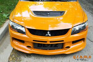 Mitsubishi Lancer Evo 7 8 9 Front Bumper with Lip JDM Style, Body Kit, Racing v8