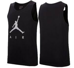NIKE Air Jordan Poolside Tank jersey- NEW- black Cement Jumpman retro tee shirt