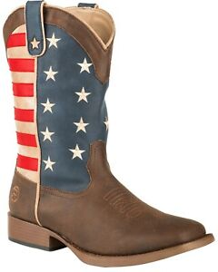 Roper Youth American Patriot Western Boot - Square Toe  - 09-119-1902-0380 BR