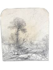 Really Old Master Manner Of John Constable Early 19th Century Pencil Drawing