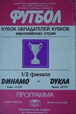 Programm EC 1985/86 Dynamo Kiew - Dukla Praha