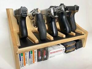 Pistol Rack 5-Slot Gun Safe Storage   Pistol Display Stand Gunrack Organizer