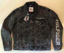 Tommy Hilfiger Retro Vintage Style Acid Wash Denim Button...
