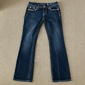 Miss Me Womens Size 28 Easy Boot Blue Denim Jeans Actual Size 30x31
