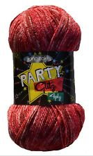 King Cole Party Glitz 4ply Knitting Yarn Sparkly Bright Wool 100g Pattern Santa (2351)