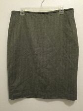SAKS FIFTH AVE. 100% Extra Fine Merino Wool Skirt Women's Size 12