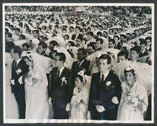 1970 Korean Mass Wedding, Rare Vintage Photo