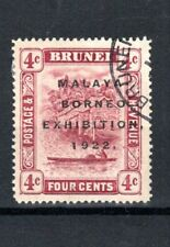 More details for brunei 1922 4c view on brunei river malaya-borneo £xhibition, 1922 opt fu cds