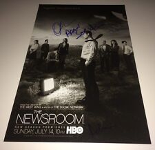NEWSROOM Cast X 3 Hand Signed 11 X 17 Photo In Person Autograph