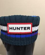 Walker/Toddler/Kids HUNTER Striped Multi Knit Cuff Fleece Welly Rain Boot Socks