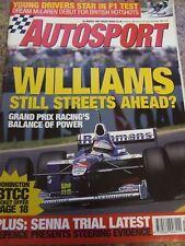 AUTOSPORT MAGAZINE MAR 1997 MCLAREN BRITISH HOTSHOTS SENNA TRIAL LATEST WILLIAMS