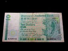 Hong Kong Standard Chartered Bank 10 Dollars, 1986