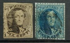 BELGIUM - UNCHECKED  CLASSIC USED STAMPS.  SEE SCANS!!!