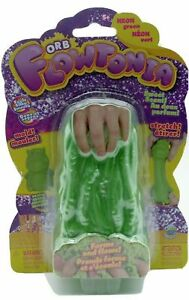 OrbSlimy Flowtonia Scented Forms & Flows Sparkly Neon Green Slime - NEW