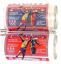 1996 OLYMPICS BASKETBALL DREAM TEAM USA GOLD BUDWEISER+BUD LIGHT BEER CANS SPORT