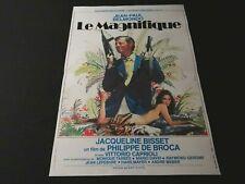 jean paul belmondo LE MAGNIFIQUE ! jacqueline bisset affiche cinema