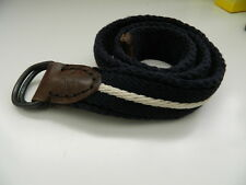 ABERCROMBIE & FITCH CLOTH KEMER BELT NAVY W/ WHITE STRIPE SIZE 30 *FREE SHIPPING