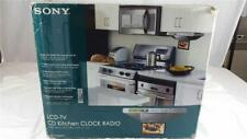 NEW Sony LCD-TV CD Kitchen Clock Radio ICF-CD555TV CD-R/RW Under Counter