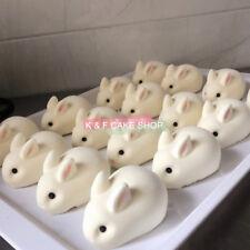 6 X Kaninchen Silikonform Süß Tier Mousse Kuchenform Schokoladenform Puddingform