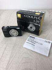 Nikon COOLPIX L29 16.1MP Digital Camera - Black with box and manual