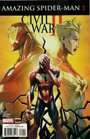 Civil War II Amazing Spider-Man Comic Issue 1 Modern Age 2016 Gage Foreman Lopez