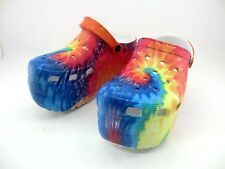 Cape Robbin Gardener Platform Mule Clog Shoes Multicolored Women Size 9
