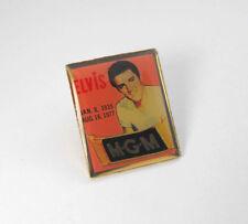 ELVIS PRESLEY Commemorative 1935-1977 ORIGINAL MGM Hat Lapel Tie Tack Pin Back