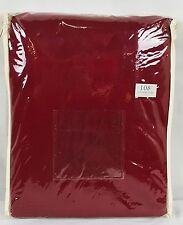 """JCP Home Linden Street Rod-Pocket Back-Tab Panel 40"""" x 108"""" - Rustic Red"""